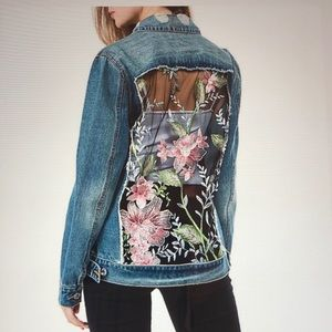 Ashley Vintage Charm Floral Mesh Back Jacket. NWT